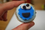 cookie monster cupcakes for baby shower